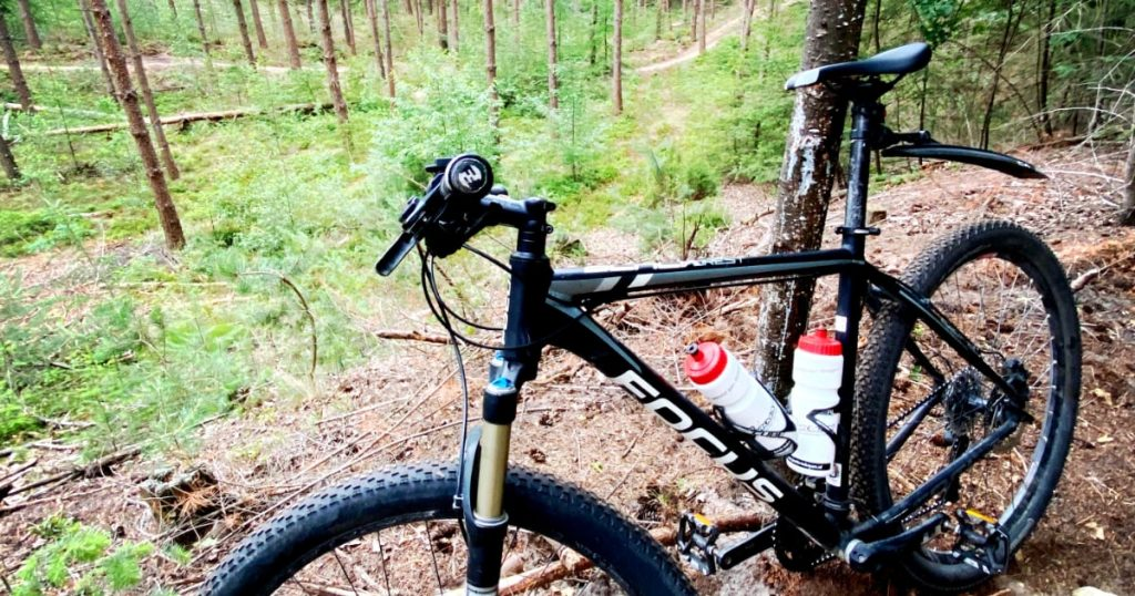 Mountainbike route (trail) op Landgoed Den Treek Henschoten