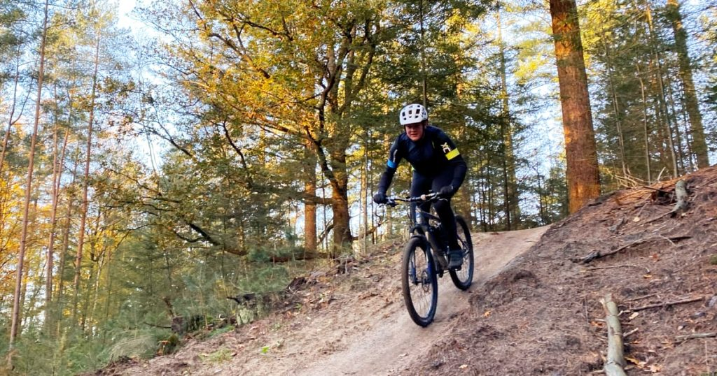 Moutainbike trail door Den Treek naar Austerlitz